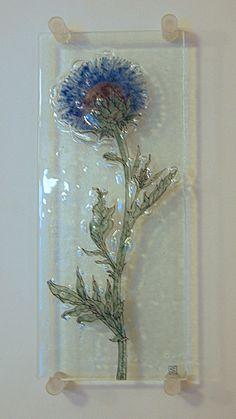 cardoon by Sheila Gates of Burlingham Glass