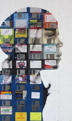 Nick Gentry's Paintings on FLOPPY DISKS
