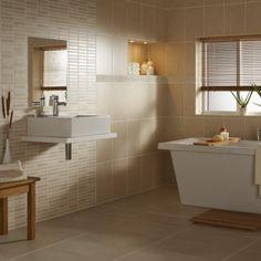 Malvern Roomset porcelain tiles, 2 types plain and mosaic
