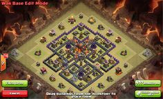 Clash of Clans Town Hall 8 War Base 2 Trap Funnel Teaser