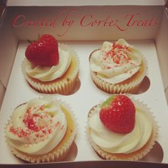 To share or not to share, that is the question? #CortezTreats #cupcakes #cakesthatmeltinyourmouth #delicious #strawberries #indulge #Christmas