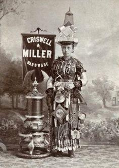 Criswell & Miller - Femme sandwich, 1890.