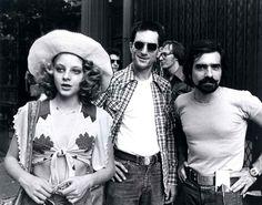 Robert De Niro, Jodie Foster, and Martin Scorsese in Taxi Driver