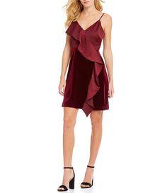 242016f97ea5 Dillards.com. DillardsCrushesRuffles. Lucy Paris Velvet Ruffle Shift Dress