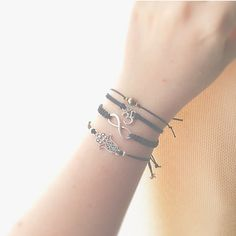Hamsa Friendship Bracelet - bohemian jewelry - boho jewelry - adjustable bracelet - boho bracelet - black string bracelet