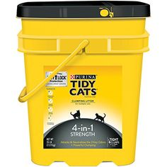 Purina Tidy Cats 4-in-1 Strength Cat Litter - (1) 35 lb. Pail * Click on the sponsored Amazon image for additional details.
