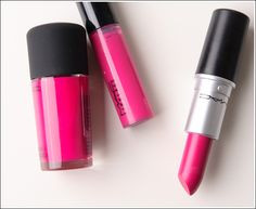 MAC Girl About Town Lipglass, Lipstick, Nail Lacquer with swatches!! Available online now!
