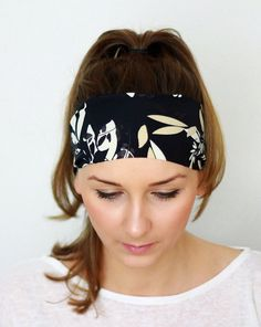 Yoga Headband, Floral, Leaf Hairband, Fitness headband, Workout Headband, Running Headband, Nonslip Headband Girl Hair Wrap YH01