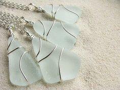 Nice idea, wrapped seaglass from Boston Sea Glass