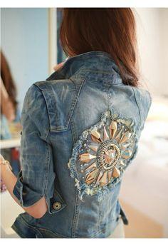 cool, cute, denim, girl, jacket, tops