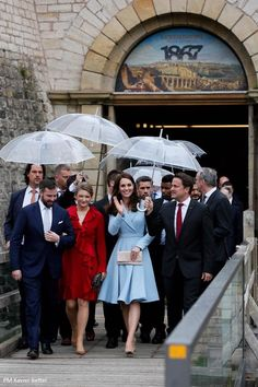 The Duchess of Cambridge undertook her second solo overseas visit as a member of the royal family today - carrying out a variety of engageme...