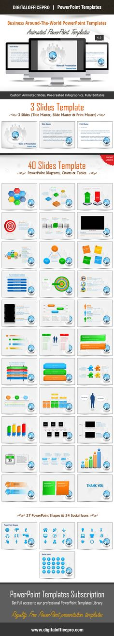 Impress and Engage your audience with Business Around-The-World PowerPoint Template and Business Around-The-World PowerPoint Backgrounds from DigitalOfficePro. Each template comes with a set of PowerPoint Diagrams, Charts & Shapes and are available for instant download.