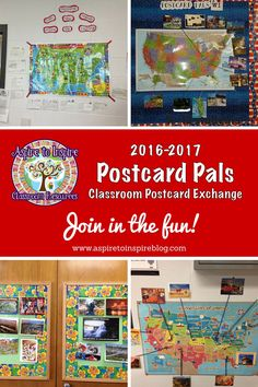 Postcard Pals is a K-12 classroom postcard exchange in which students share about their states with students from other classrooms around the country.