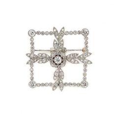 Platinum & Diamond Brooch -doyle.com