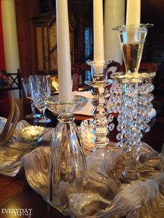 Winter's Glow | Everyday Living | Winter Tablescape | Candlelight