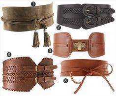 Leather Obi belts- love it!