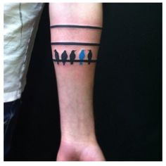 """love this """"dare to be different"""" tattoo - perhaps a yellow or red bird?  Not fond of baby blue - maybe navy blue? or PINK!  Yes, I want pink. lol."""