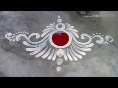 Rangoli Designs Latest, Rangoli Designs Flower, Rangoli Border Designs, Rangoli Designs Diwali, Rangoli Designs Images, Rangoli Designs With Dots, Beautiful Rangoli Designs, Easy Rangoli, Free Hand Rangoli Design