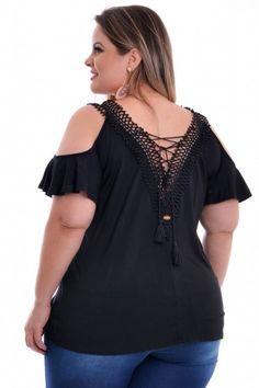 Blusa Plus Size Guipir Black