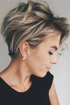 Short Hairstyle Trends in 2019 Women's Haircuts That Will Be in Fashion in 2019 . Short Hairstyle Trends in 2019 Women's Haircuts That Will Be in Fashion in 2019 The constant desire to improve, to e Latest Short Haircuts, Short Hairstyles For Thick Hair, Short Pixie Haircuts, Short Hair Cuts For Women, Curly Hair Styles, Hairstyle Short, Bob Haircuts, Summer Haircuts, Easy Hairstyles