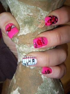 Valentine nail I like the ring finger one only