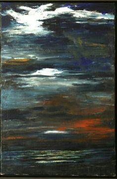 """Volker Scharnefsky """"Nächtliches Seestück"""" Galerie  Weise"""