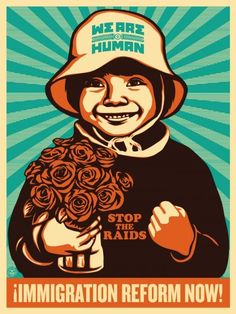 """""""Alto Arizona"""" protest poster by Ernesto Yerena and Shepard Fairey Protest posters CultureStrike: Design Activism to Impact Immigration Reform Protest Posters, Political Posters, Political Art, Barbara Kruger, Diego Rivera, Andy Warhol, Barack Obama, Shepard Fairey Art, Street Art"""