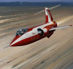 lockheed f-104 starfighter - red baron - painting anthony cowland