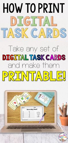 Take any digital task card set and make it printable. Learn the simple steps to make it happen! Kindergarten Activities, Classroom Activities, Classroom Organization, Classroom Management, Teaching Tools, Teacher Resources, Powerpoint Games, Student Behavior, Technology Integration