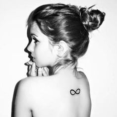 Infinity tattoo. Love the placement!