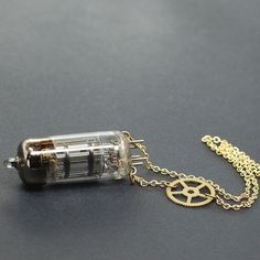 Steampunk Necklace Vacuum Tube Necklace Steampunk by Tanith