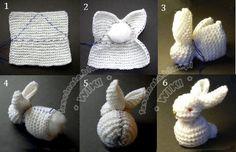 DIY Crochet Knit Bunny | www.FabArtDIY.com