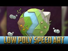 Low Poly Planet Earth Speed Art   Cinema 4D - YouTube