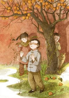 Painting For Kids, Art For Kids, Magic Tricks For Kids, Japanese Graphic Design, Korean Art, Chinese Painting, Traditional Art, Kawaii Anime, Cute Art