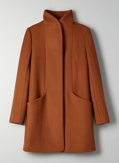 Wilfred's streamlined, beautifully structured coat has a cozy collar that can be worn up or down. It's made with an exceptionally warm, virgin-wool and cashmere fabric from a premier Italian mill. Cashmere Fabric, Cashmere Coat, Outfits Casual, Fall Outfits, Biker Outfits, Fashion Outfits, Color Type, Winter Mode, Winter Gear