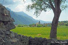 Novaledo in Valsugana (Trentino - Italy), vanaf de Tor Quadra gezien.