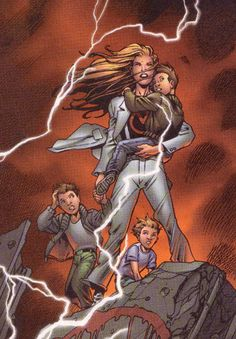 Jenny Sparks of the Authority.  Art by Bryan Hitch.