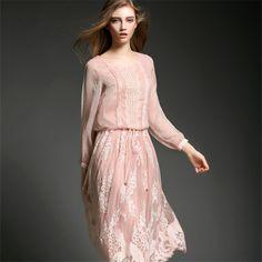 Элегантное женское платье макси, шелк+полиэстер, размеры S XL купить на AliExpress