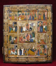 The Feasts Russian Icon 19th century