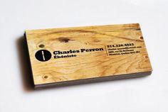 Tarjetas de presentacion hechas en madera
