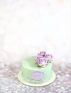 Mint And Lavender Cake  on Cake Central