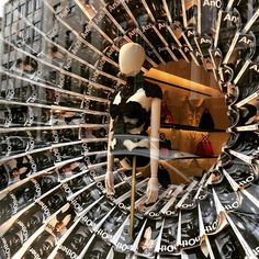 """Alexander McQueen, London, UK, featuring: AnOther Magazine, London, UK,""""Going round in circles"""", pinned by Ton van der Veer"""