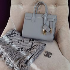 "bergdorfprincess: "" ugh want this bag and scarf """
