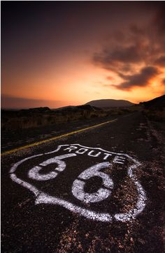 Route 66: So close and yet still to be ridden.