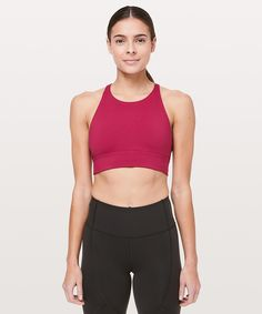 ruby red Ride & Reflect Bra lululemon X SoulCycle