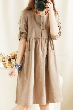 B&Y vintage mori girl elegant 100% cotton high waist one piece dress-inDresses from Apparel & Accessories on Aliexpress.com | Alibaba Group