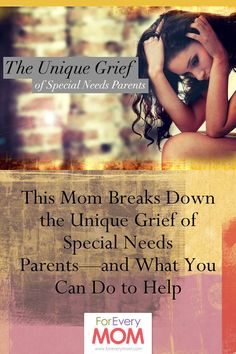 The unique grief of special needs parents. Touching article from an autism mom.