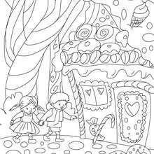 Hansel Und Gretel Zum Ausmalen Malvorlagen Marchen Malvorlagen Coloring Pages Coloring Books Fairy Tales