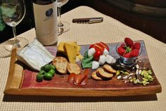 """Extra Large Holiday Wine and Cheese Board from by BuddhaBarrels - they have SALE now -12/15 for 15% off!  Enter in the coupon code section at checkout """"Thanks15"""" to get the discount! Gorgeous items!"""