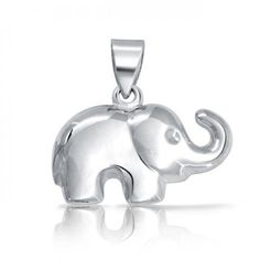 Bling Jewelry Patriotic Sterling Silver Good Luck Charm Happy Elephant Pendant